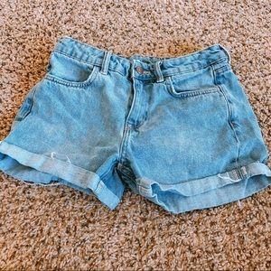 H&M high-rise jean shorts